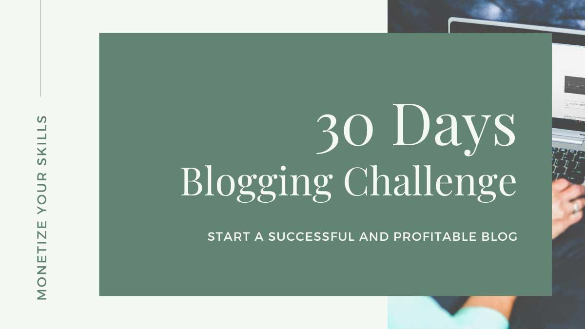 30 Days Blogging Challenge